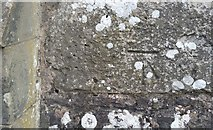 SO2813 : Ordnance Survey Cut Mark by Adrian Dust