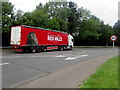 SO5012 : Connolly's RED MILLS lorry in Overmonnow, Monmouth  by Jaggery