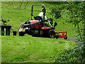 H4672 : Mowing grass, Campsie by Kenneth  Allen