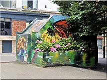SJ8498 : Street Art on the Tib Street Substation by David Dixon