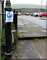 SO2508 : Keep your distance notice, Lion Street, Blaenavon by Jaggery
