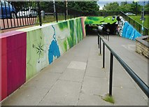 NS5574 : New artwork at Gavin's Mill Underpass (2) by Richard Sutcliffe