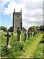 SW5437 : St Uny's church, Lelant by Marika Reinholds