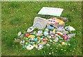 NT2447 : Covid Cairn, Eddleston Primary School by Jim Barton