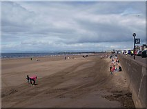NS3321 : Beach beside Ayr esplanade by Alec MacKinnon
