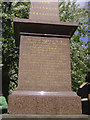 SP0686 : Memorial to Thomas Unett, St Philip's Cathedral Churchyard, Birmingham by Robin Stott