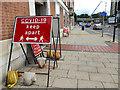 SE3033 : Social distancing sign, Regent Street, Leeds by Stephen Craven