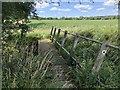 TL0665 : Footbridge on the path to Swineshead by Philip Jeffrey