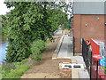 SE2833 : Work on the riverside path beneath Wellington Bridge by Stephen Craven