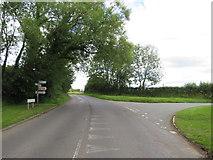 SU0497 : Road junction near South Cerney by Malc McDonald