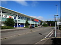 ST3486 : No entrance to/exit from this side of Tesco Extra in Newport Retail Park by Jaggery