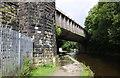 SD9826 : Railway Bridge MVN2/124, Rochdale Canal Bridge #20 by Roger Templeman
