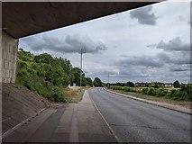 TQ5571 : Hawley Road (A225) under the A2 bridge by Paul Williams