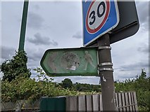 TQ5571 : Sign for Darent Valley Path on Hawley Road (A225) by Paul Williams