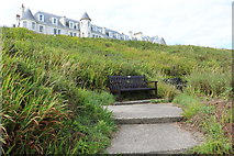 NW9954 : Seat on the Southern Upland Way, Portpatrick by Billy McCrorie