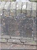 SD3097 : Old Bridge Marker by the B5285, Yewdale Bridge, Coniston by Milestone Society