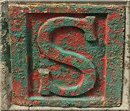SX9066 : Plate on wall, Barton Hill Road, Torquay by Derek Harper
