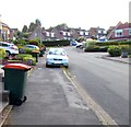 ST3090 : Orange-lidded wheelie bins, Larch Grove, Malpas, Newport by Jaggery