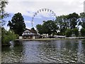 SP2054 : Stratford Rowing Club and the Big Wheel by Steve Daniels