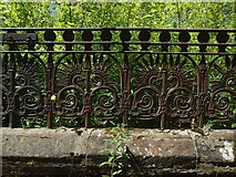 NS4075 : Iron railings of disused church by Lairich Rig