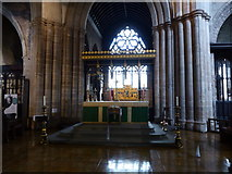 SK3871 : Inside St Mary and All Saints church in Chesterfield by Jeremy Bolwell