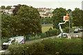 SX9065 : Phoneline repairs, Cricketfield Road, Torquay by Derek Harper