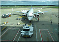 SJ8284 : Ryanair pit-stop at Manchester Airport (photo 4 of 7) by Thomas Nugent