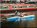 NS5866 : Kayakers at Spier's Wharf by Richard Sutcliffe