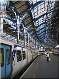 TQ3005 : Brighton Station : train shed cast iron columns by Julian Osley