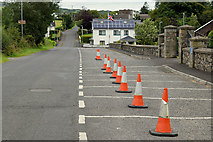 H4277 : Traffic cones along Castletown Road, Tattraconnaghty by Kenneth  Allen