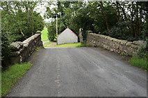H4277 : Bridge over former railway line under Mountjoy Avenue by Kenneth  Allen