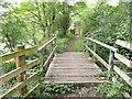 SE2200 : Footbridge on the disused Langsett Reservoir railway track by Humphrey Bolton