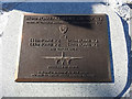 TL7829 : Detail of the 410th BG(L) squadron memorial plaque by Adrian S Pye