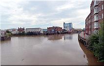 TA1028 : The River Hull seen from Drypool Bridge, Hull by habiloid