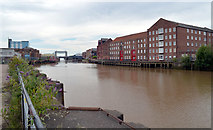 TA1028 : View down the River Hull from near Drypool Bridge by habiloid