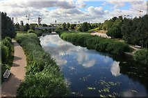 TQ3785 : River Lea, Queen Elizabeth Olympic Park by Oast House Archive