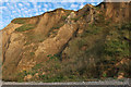 TG1443 : Eroding cliffs near Sheringham by Hugh Venables