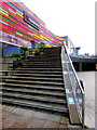 ST3187 : One-way system on wide steps, Usk Plaza, Newport by Jaggery