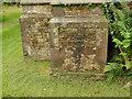 SJ8257 : All Saints, Odd Rode: foundation stone by Stephen Craven