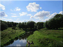 SP9599 : The River Welland at Wakerley by Jonathan Thacker