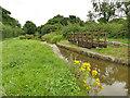 SJ8356 : Cinder Hill swing bridge by Stephen Craven