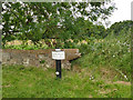 SJ8156 : Canal milepost at Church Locks by Stephen Craven