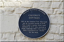 TQ5839 : Calverley Cottages blue plaque by N Chadwick