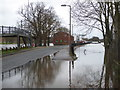 SO8455 : Flooding at Worcester Racecourse by Chris Allen