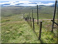 NS4295 : Fence and deer fence near Glac Bheag by Chris Wimbush
