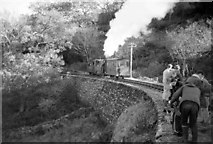 SH6441 : Weekend working party near Hafod y Llyn, Ffestiniog Railway by Martin Tester