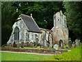 SY0785 : Mausoleum and remains of church, Bicton by Chris Allen