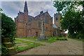 SD8103 : Prestwich Parish Church and War Memorial by David Dixon