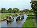SJ6255 : Narrowboats at Hurleston Bottom Lock, Cheshire by Roger  Kidd