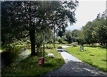 J3731 : Flooded footpath in Island's Park, Newcastle by Eric Jones